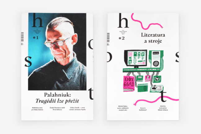 Host — redesign literárního časopisu