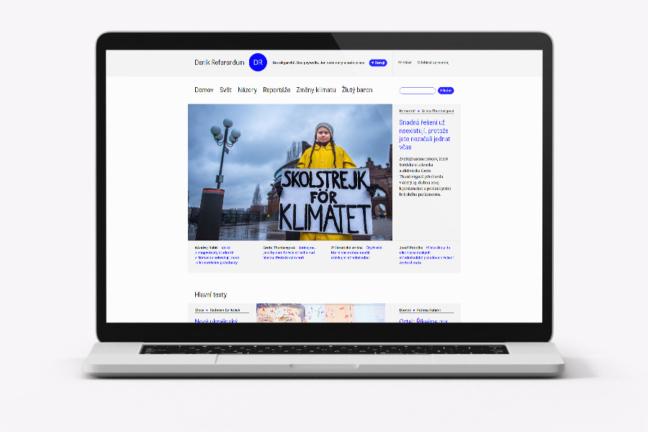 Web pro Deník Referendum
